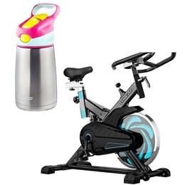 Bike Spinning ONeal TP1000 Semi Profissional + Garrafa Striker Chill Rosa