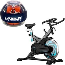 Bike Spinning ONeal TP1000 Semi Profissional + Giroscópio Power Ball Liveup