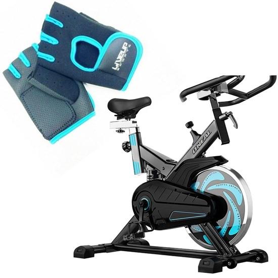 Bike Spinning ONeal TP1000 Semi Profissional + Luva Musculação P/M Liveup
