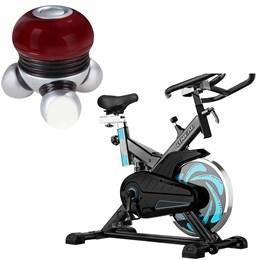 Bike Spinning ONeal TP1000 Semi Profissional + Mini Massageador Liveup LS5049A