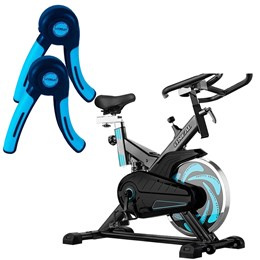 Bike Spinning ONeal TP1000 Semi Profissional + Par de Hand Grip Liveup