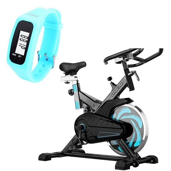 Bike Spinning ONeal TP1000 Semi Profissional + Pedômetro Liveup Azul