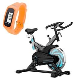 Bike Spinning ONeal TP1000 Semi Profissional + Pedômetro Liveup Laranja