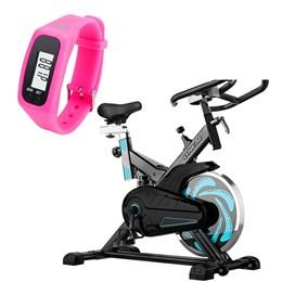 Bike Spinning ONeal TP1000 Semi Profissional + Pedômetro Liveup Rosa