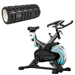 Bike Spinning ONeal TP1000 Semi Profissional + Rolo de Massagem com Ranhuras ProAction