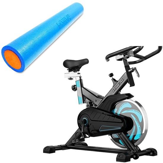 Bike Spinning ONeal TP1000 Semi Profissional + Rolo Yoga 90x15cm Liveup