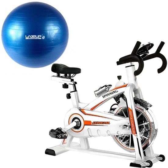 Bike Spinning ONeal TP1100 Semi Profissional + Bola Suiça 55cm Azul LiveUp LS3222 55 PR / AE