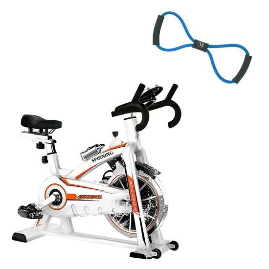 Bike Spinning ONeal TP1100 Semi Profissional + Elástico Extensor em Oito Tensão Forte LIVEUP
