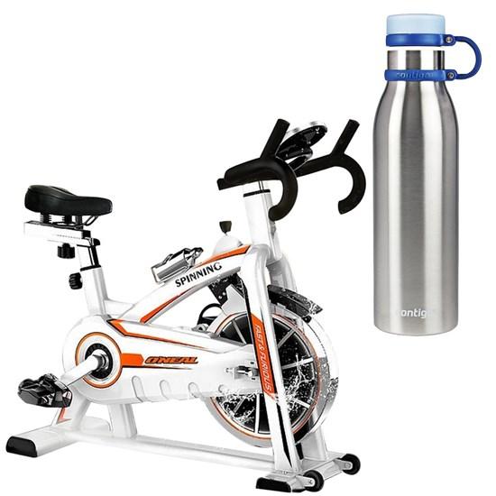 Bike Spinning ONeal TP1100 Semi Profissional + Garrafa 591 ml Matterhorn Azul