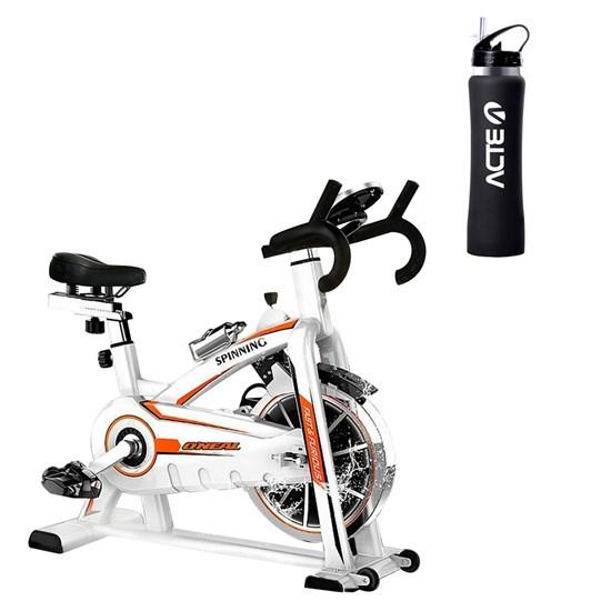 Bike Spinning ONeal TP1100 Semi Profissional + Garrafa Squeeze ACTE C24 Preto