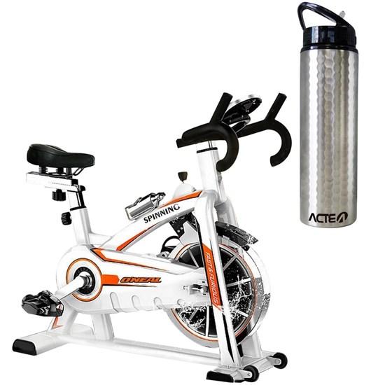 Bike Spinning ONeal TP1100 Semi Profissional + Garrafa Squeeze ACTE C35 Preta