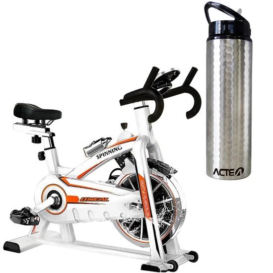 Bike Spinning ONeal TP1100 Semi Profissional + Garrafa Squeeze ACTE C36 Prata