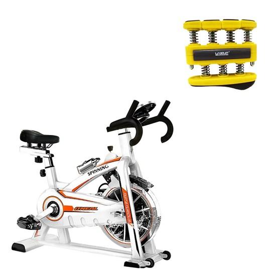 Bike Spinning ONeal TP1100 Semi Profissional + Hand Grip Amarelo LiveUp Sports LS3338B/L