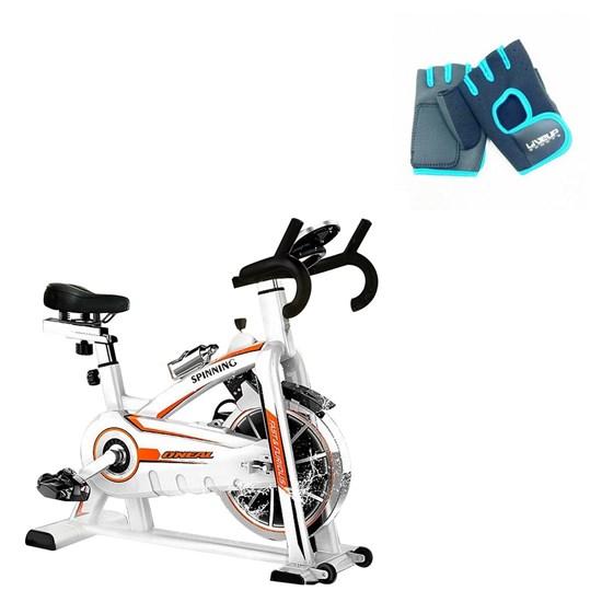 Bike Spinning ONeal TP1100 Semi Profissional +  Luva de Academia P/M LIVEUP LS3077