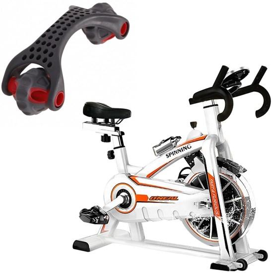 Bike Spinning ONeal TP1100 Semi Profissional + Massageador Corporal com 2 Rodas LiveUp