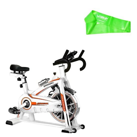 Bike Spinning ONeal TP1100 Semi Profissional + Mini Band Intensidade Média Verde Liveup