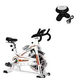 Bike Spinning ONeal TP1100 Semi Profissional + Mini Massageador Corporal USB Pilha Preto