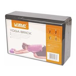 Bloco em EVA para Exercícios de Yoga Preto - LIVEUP LS3233-PR