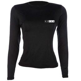 Blusa Feminina com Proteção UV +50 AZTEQ Thermofit Preto