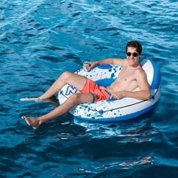 Boia Circular Bestway Premium com Alça Encosto e Porto Copos Luxury Lounge