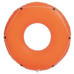 Boia Circular Inflável Bestway Laranja com Cordas de Segurança