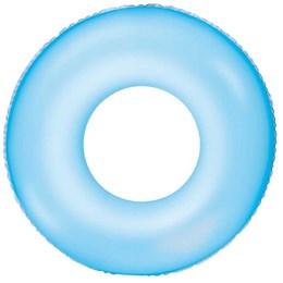 Boia Circular Inflável Bestway Neon 91cm Azul em Vinil