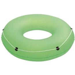Boia Circular Inflável Bestway Verde com Cordas de Segurança