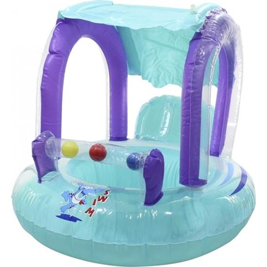 Boia Inflável Infantil Nautika Baby Seat Ring Suporte de Segurança Suporta até 11Kg