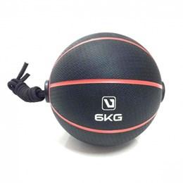 Bola de Peso Medicine Ball com Corda 6Kg - LIVEUP LS3006E/6