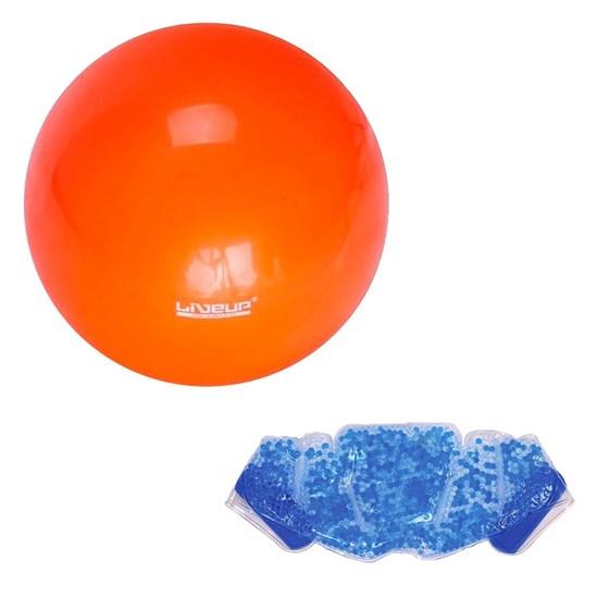 Bola Overball Pilates 25cm Liveup LS3225 + Bolsa Térmica Contusão Relaxmedic