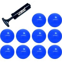 Bola Suíça 65 CM para Pilates 10 Unidades com Bomba LIVEUP