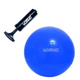 Bola Suíça 65 CM para Pilates Azul com Bomba Manual de Inflar - LIVEUP