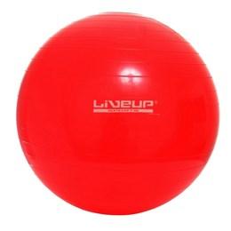 Bola Suíça para Pilates 45 CM Premium Vermelha - Liveup LS3222 45 PR com Bomba