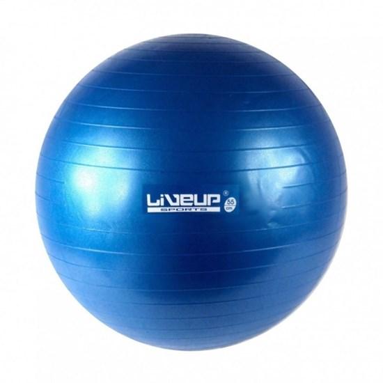 Bola Suiça para Pilates 55cm Azul LiveUp Premium LS3222 55 PR / AE