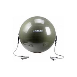 Bola Suíça para Pilates 65 CM com Extensores - LIVEUP LS3227