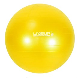 Bola Suiça para Pilates 75cm Amarela LiveUp Premium LS3222 75PR com Bomba