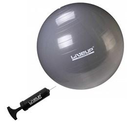 Bola Suiça para Pilates 85cm Cinza LiveUp Premium LS3222 85 PR com Bomba