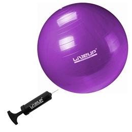 Bola Suíça para Pilates Antiestouro 55 Cm Premium - LIVEUP LS3222 55 PR com Bomba