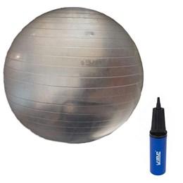 Bola Suíça para Pilates Transparente 65 CM com Bomba de Inflar LIVEUP