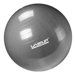 Bola Suiça Pilates Liveup 65 cm Premium LS3222 65 PRG Cinza com Bomba
