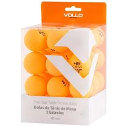 Bola Tênis Mesa com 36 Unidades 2 Estrelas Vollo VT608