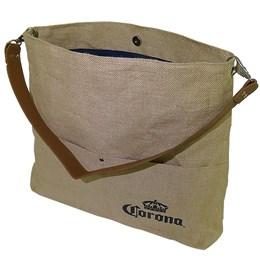 Bolsa Corona Bag Multiuso com 2 Bolsos Externos e Alça em Couro