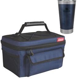 Bolsa Térmica 14 Latas Coleman + Copo Térmico de Cerveja Stanley 473ml Azul