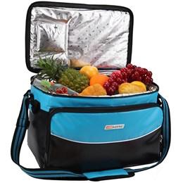 Bolsa Térmica 26 litros Nautika com Alça Aloha Preta e Azul
