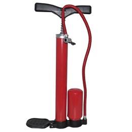 Bomba de Ar em Metal Rotony c/ Bico Duplicador de Pressão p/ Bicicletas