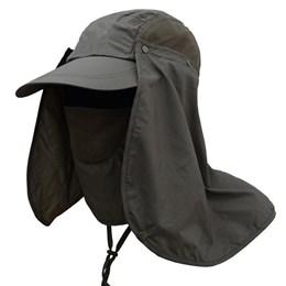 Boné Echolife Legionário com Máscara e Proteção UV 40 em Poliéster Verde Musgo