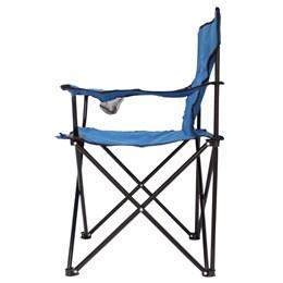 Cadeira Camping Dobrável Importway Azul com Apoio e Porta Copo