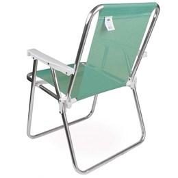 Cadeira de Praia Alta Mor em Alumínio Suporta até 90 kg Verde