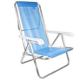Cadeira de Praia MOR 2267 Reclinável 8 Posições Azul