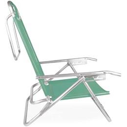 Cadeira de Praia Reclinável Mor Alumínio 5 Posições Verde